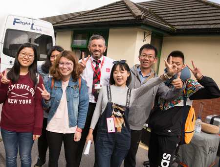 International students arrive