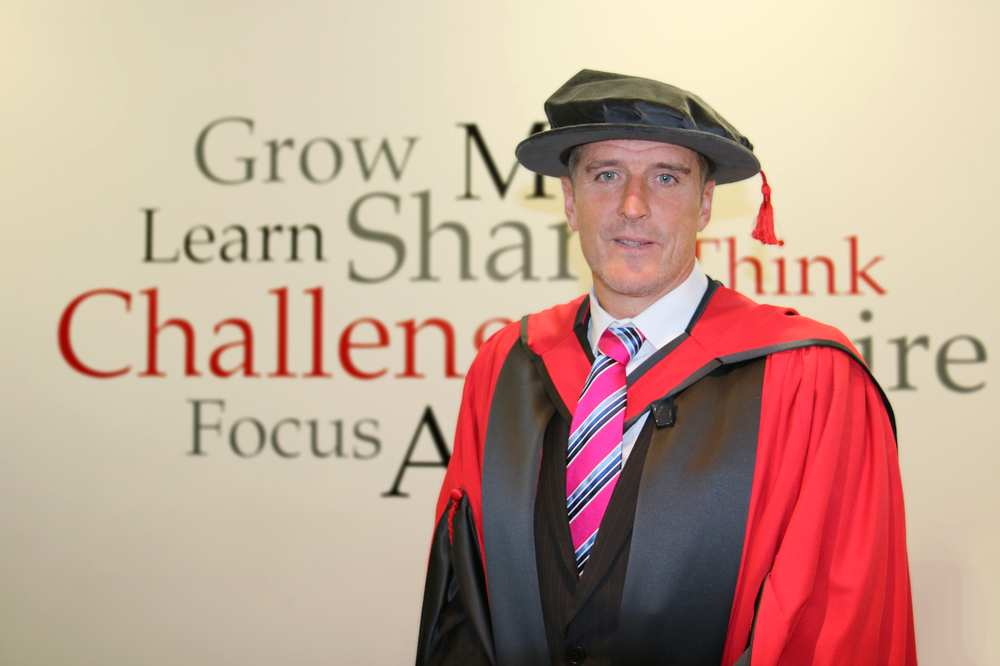 Conservationist and broadcaster Iolo Williams received an honorary fellowship from the University of South Wales. December 2017