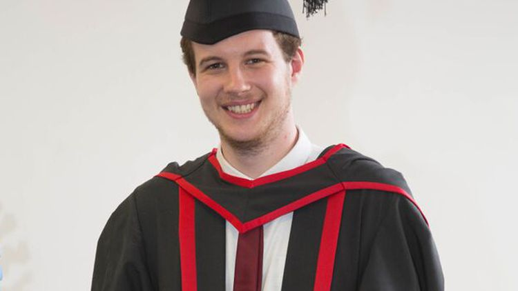 Jack Erasmus, Psychology graduate 2015