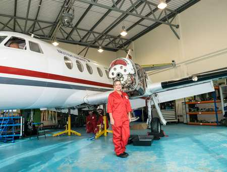 Katie Danahar_Aircraft Maintenance Engineering student