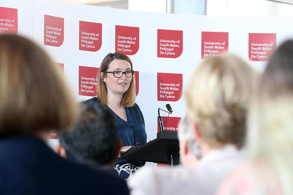 Kirsty Williams AM speaking at Senedd