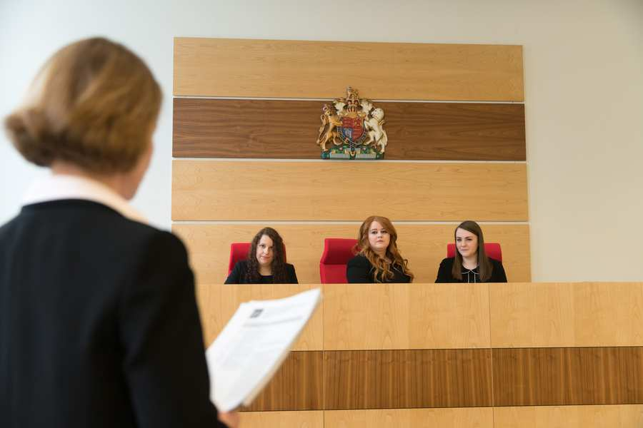 Law students at Moot Court
