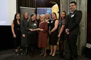 USW students with Lady Hale at the LawWorks Annual Pro Bono Awards, which were held in London.