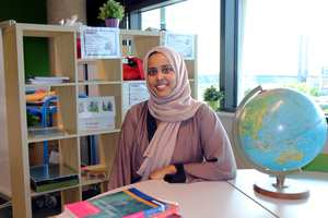 Layla Hassan, 25, Early Years Education degree. July 2017. Neil Gibson