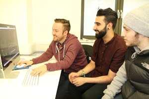Media Production Students: Lloyd Thomas, Zain Ilyas and Milton Vasili