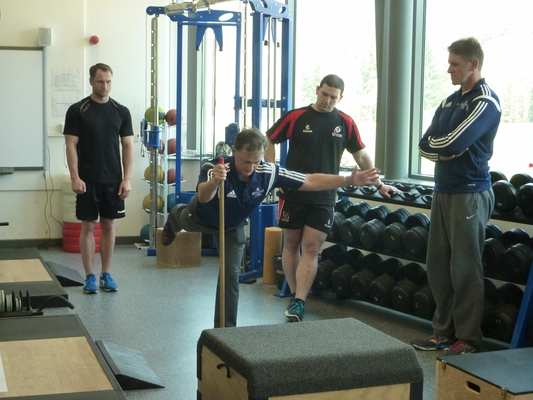 Liam Hennessey, former fitness director at the IRFU, provides insights into the challenges of alignment during single leg extension