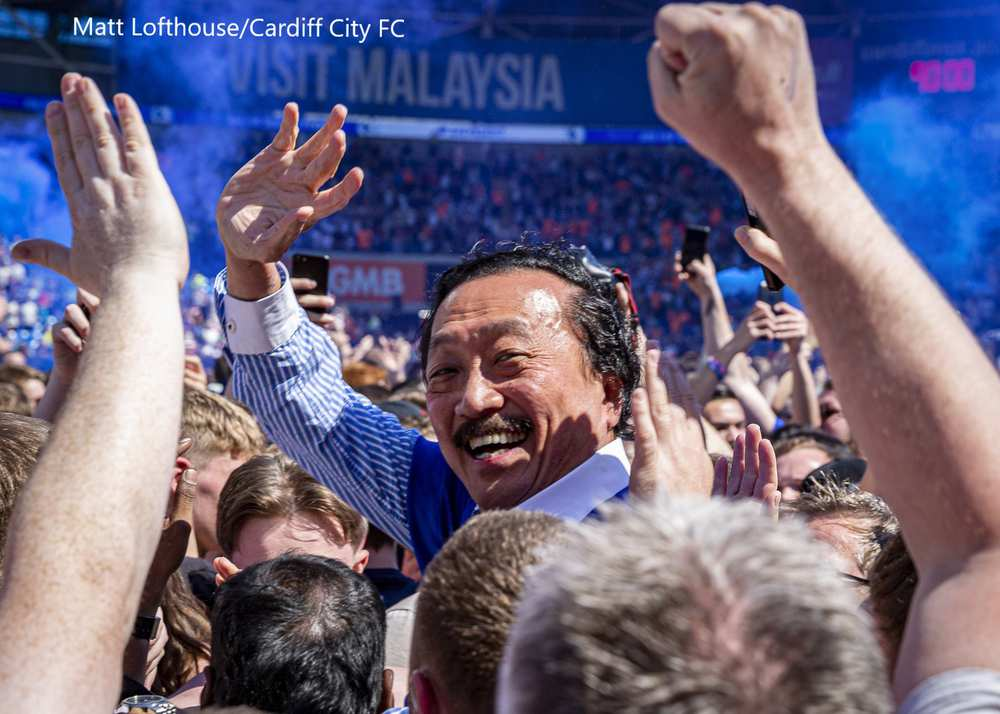 Image of Cardiff City FC owner Vincent Tan by USW photojournalism graduate Matt Lofthouse