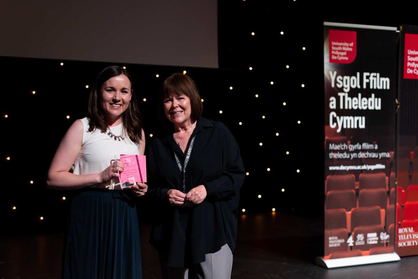Meadows Primary School - Most Innovative 11-15 with Allison Dowzell Managing Director of Screen Alliance Wales.
