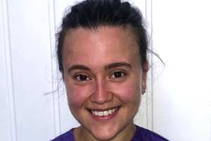 """Megan Ware, USW student learning disability nurse, has spoken about her """"challenging but rewarding"""" work on the NHS frontline during Covid-19."""