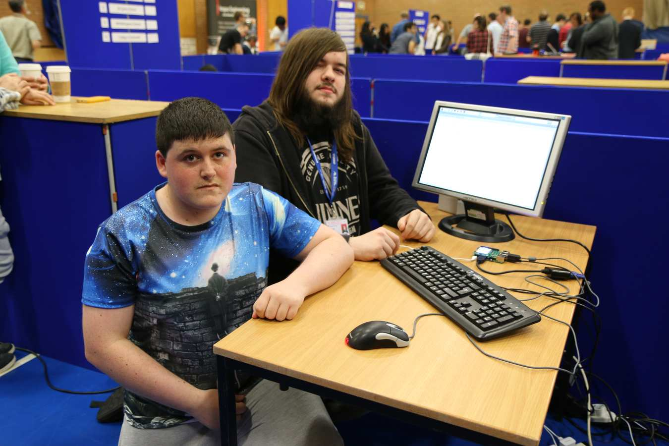 Rob Haynal, 19, and Thomas McPhail, 17, from Merthyr College