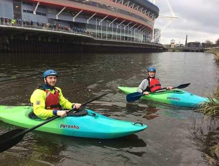Kayaking at Cardiff Bay