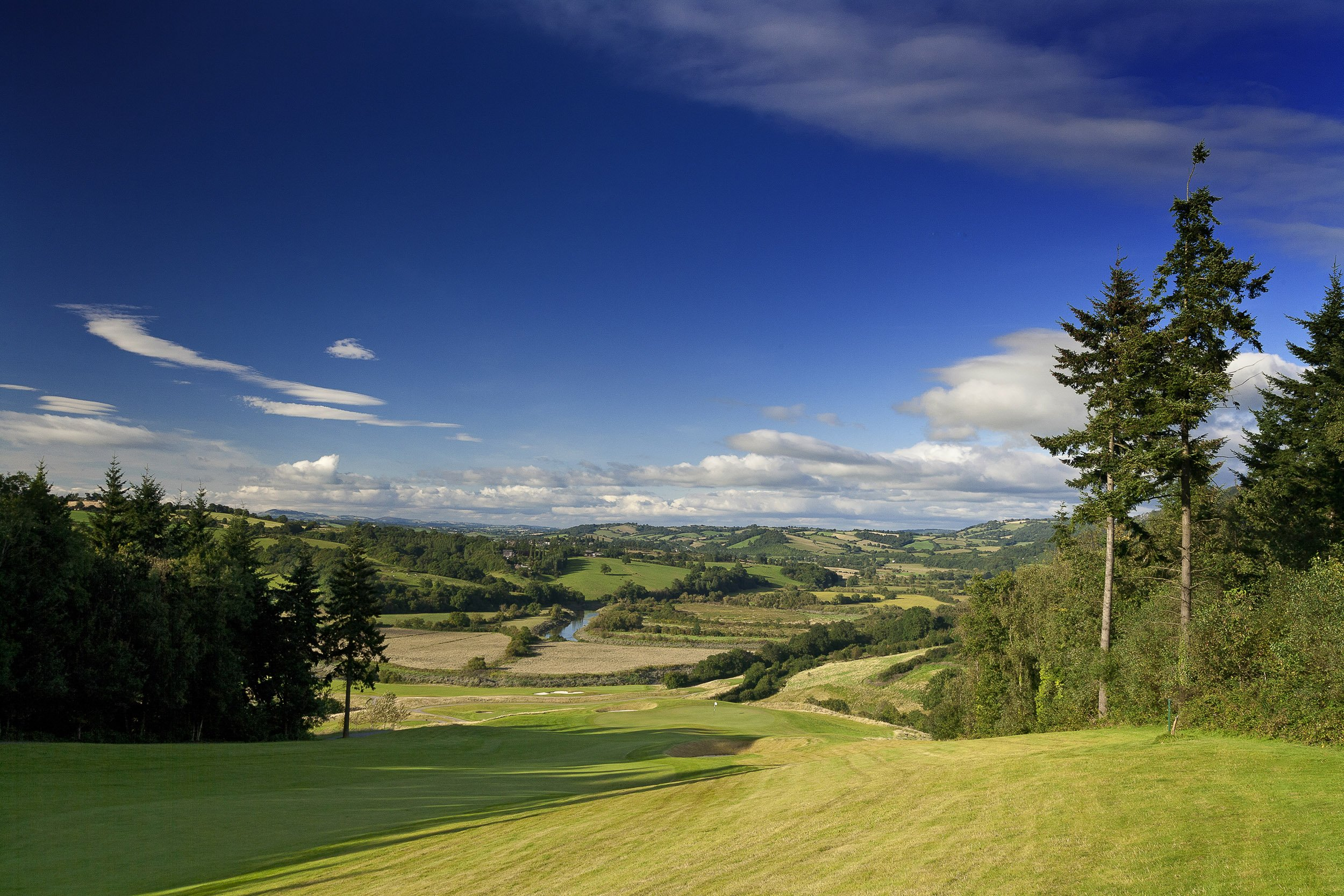 The Montgomerie Golf course at The Celtic Manor Resort.