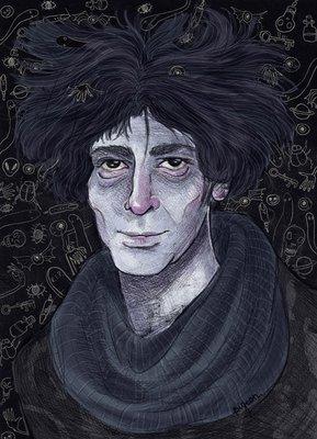 Neil Gaiman by Kamila Krol, BA (Hons) Illustration student