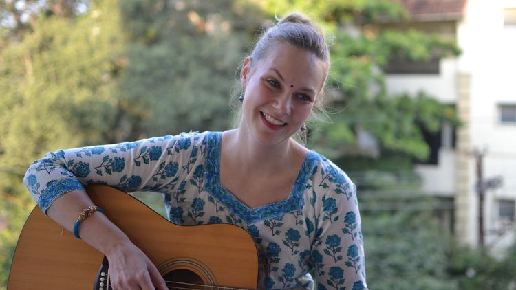 Nina Cherla, MA Music Therapy graduate, now working in India
