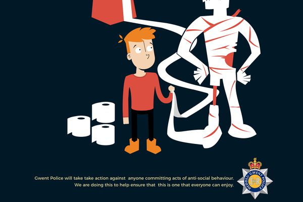 Kenneth's designs, which won the Gwent Police Halloween competition