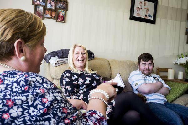 Dafydd and his mum