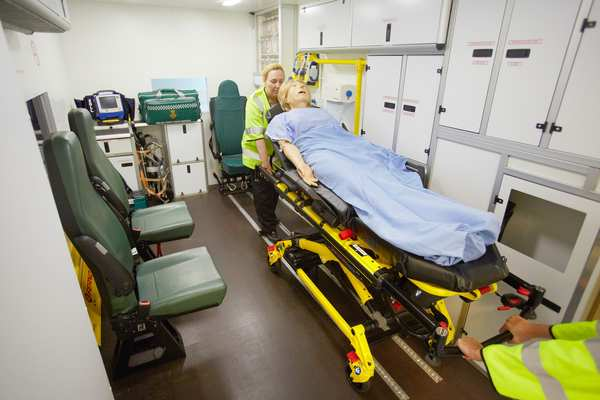 The Ambulance and Emergency Department comprises a life-size ambulance simulator that includes all the typical features found inside a real ambulance