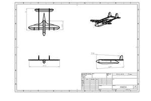 Ollie Banks' winning design for an amphibious aircraft. Neil Gibson, April 2019