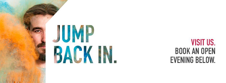 Jump Back In - Postgraduate Banner