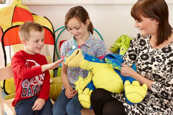 Therapists use a range of programmes to improve a child's communication, social or life skills.