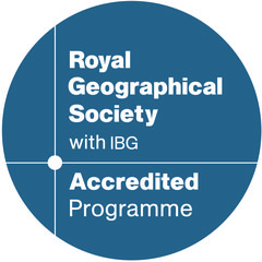 Royal Geographical Society Accredited programme logo