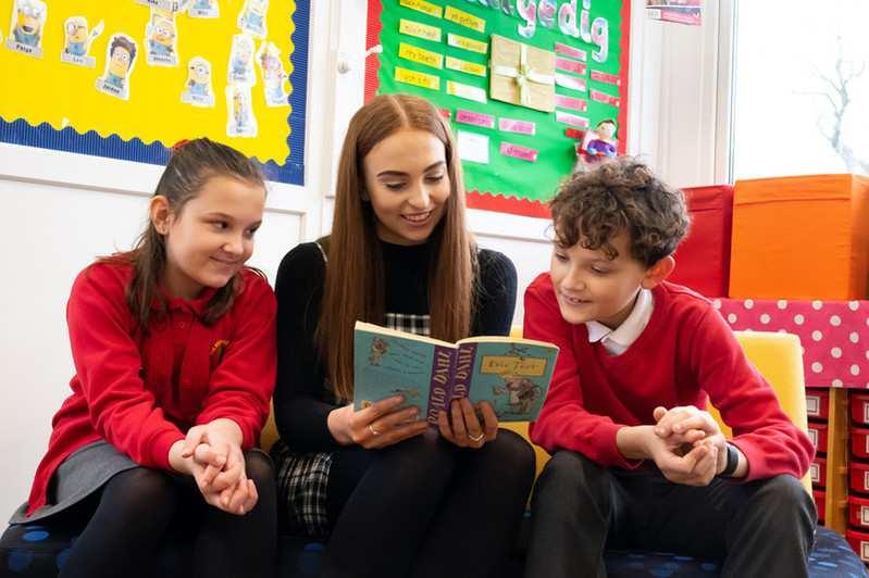 Rachel Wilks on placement at Coed Eva Primary
