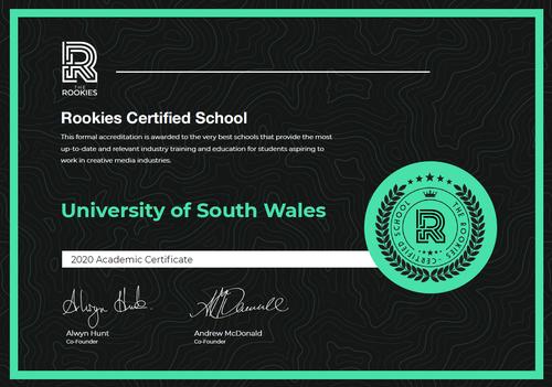 Rookies certified school 2020