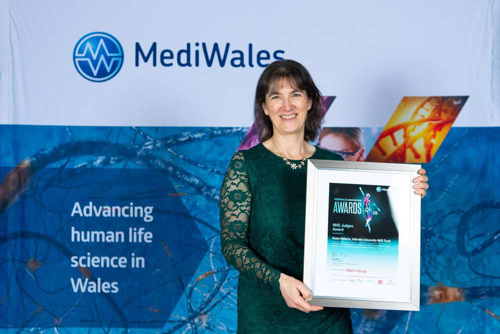Rosie Roberts is working towards her PhD at USW, and won the NHS Judges' Award at the MediWales Innovation Awards. Neil Gibson, December 2018