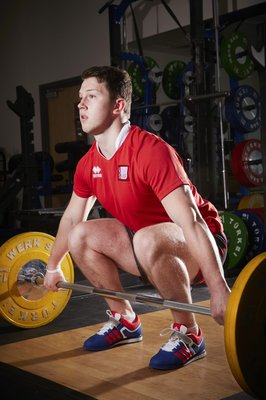 "The ability to apply force rapidly through a triple extension action plays a key role in many sports. USW athletes utilise a range of Olympic lifts and their derivatives to develop this capacity. Here Connor sets up to perform the ""Snatch""."