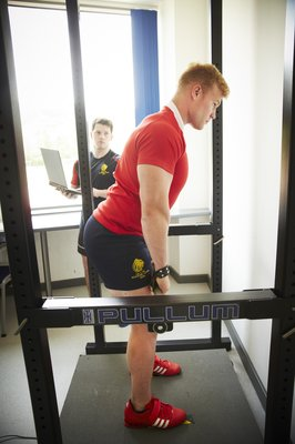 The ability to accurately assess strength is crucial. We use an isometric pull, performed on a force plate, for much of our strength diagnostics. This gives a range of values which direct our strength development programme.