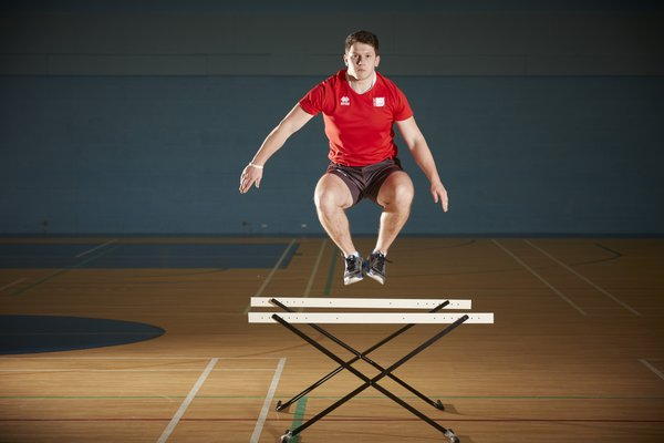 Many sports actions such as sprinting and jumping utilise a capacity known as the stretch shortening cycle. USW athletes utilise a range of plyometric exercises such as this hurdle jump in their training to develop this SSC capacity.