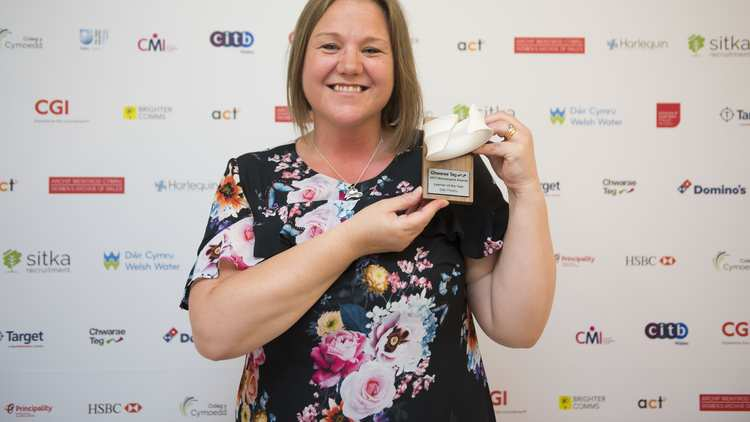 Sian Preddy, Student Midwife at USW, won Learner of the Year at the annual Chwarae Teg Womenspire Awards. Neil Gibson, June 22, 2017