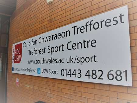 Sport Centre sign