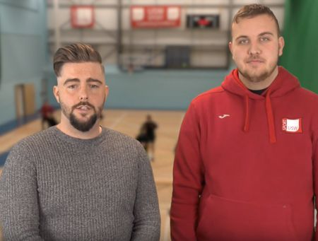 Students on USW's Sports coaching degree