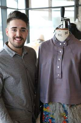 Steffan Pearson, fashion student,  winner in China International Fashion Design Competition 2016. Story by Neil Gibson