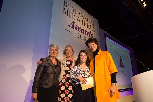 Jessica receiving her RCM award.