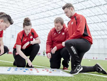 Bronnie Griffiths and Ollie, Sports Coaching and Development Degree, USW Sport Park