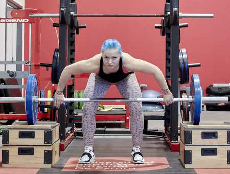 Course image: Strength and Conditioning degree showing Christie Marie Williams, Strength and Conditioning student, USW Sport Park