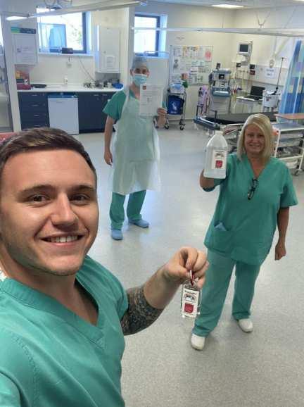 Nurses Chemists USW hand sanitiser resized