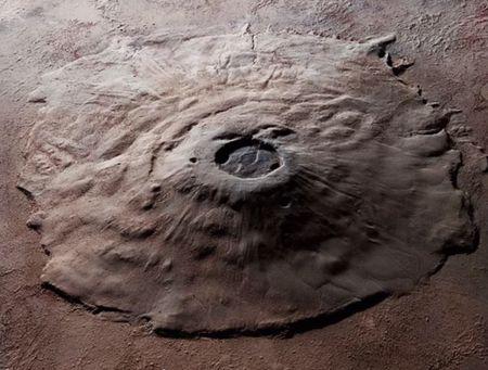 Volcano on mars