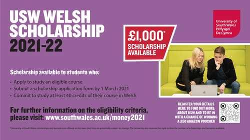 Welsh Medium Scholarship 2021-22