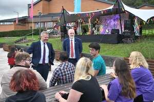WelcomeFest, Education Minister visit 01.JPG