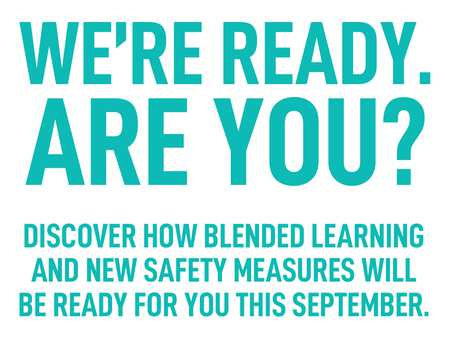 Homepage Message - Blended Learning From September 2020