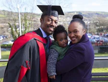 Winter graduation family