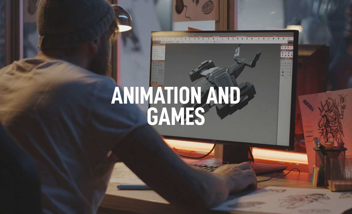Animation and Games Courses - Banner Image