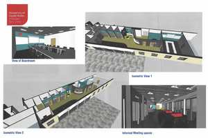An artist's impression of the USW Exchange layout. Neil Gibson