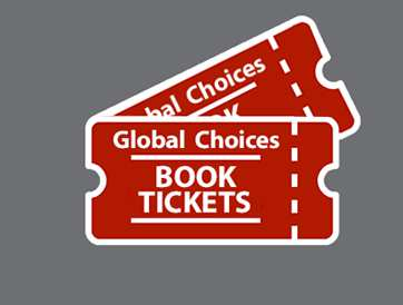 Global Choices book tickets icon