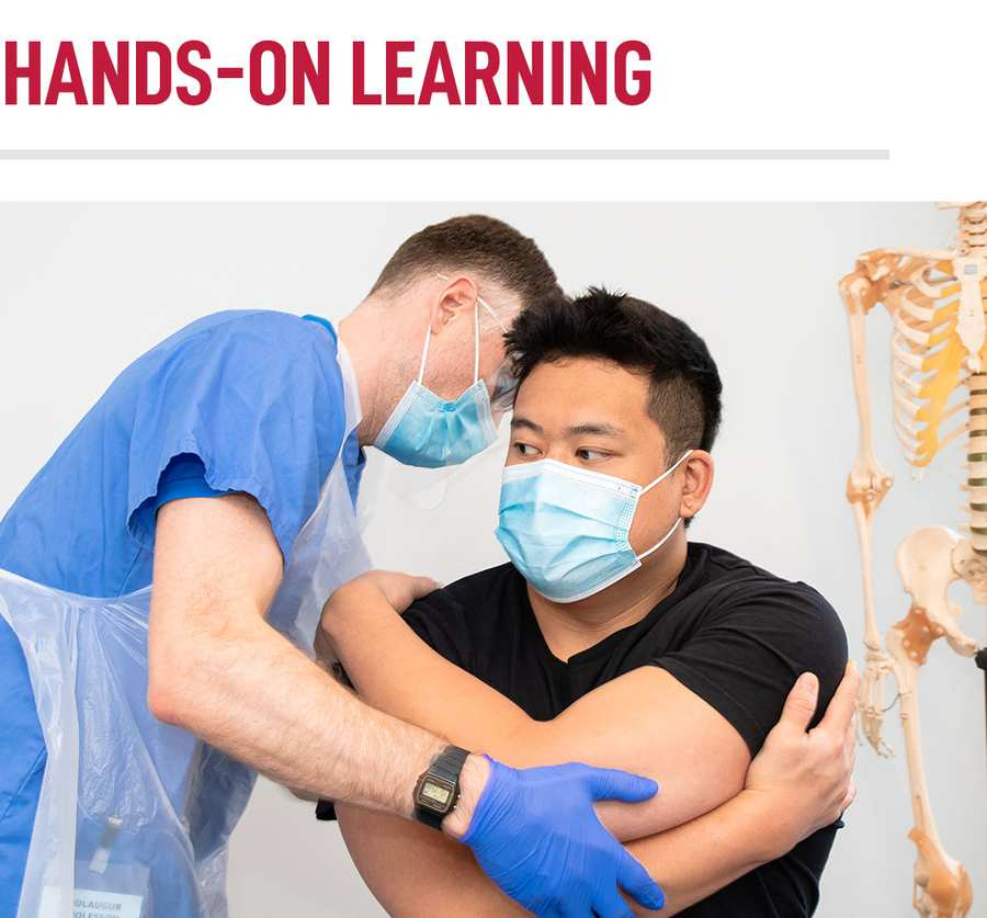 Hands On Learning at our Chiropractic Centre