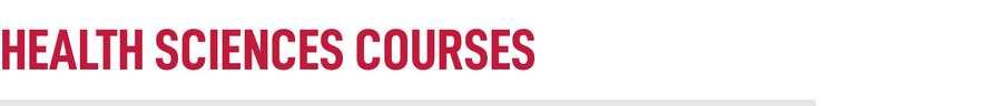 Health Sciences Courses Title