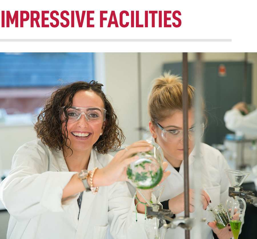 Learn in Impressive Facilities - Chemical and Pharmaceutical Sciences